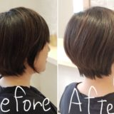 before after ショート→ショート