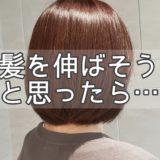 髪の毛伸ばし中!!楽しく飽きずに伸ばすには?