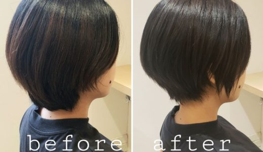 【before after】ショートスタイル