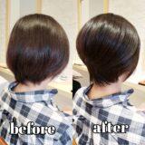 【before after】ショートスタイルでいろんな髪型を楽しもう!!